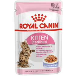 ROYAL CANIN KITTEN Sterilised в желе 85г